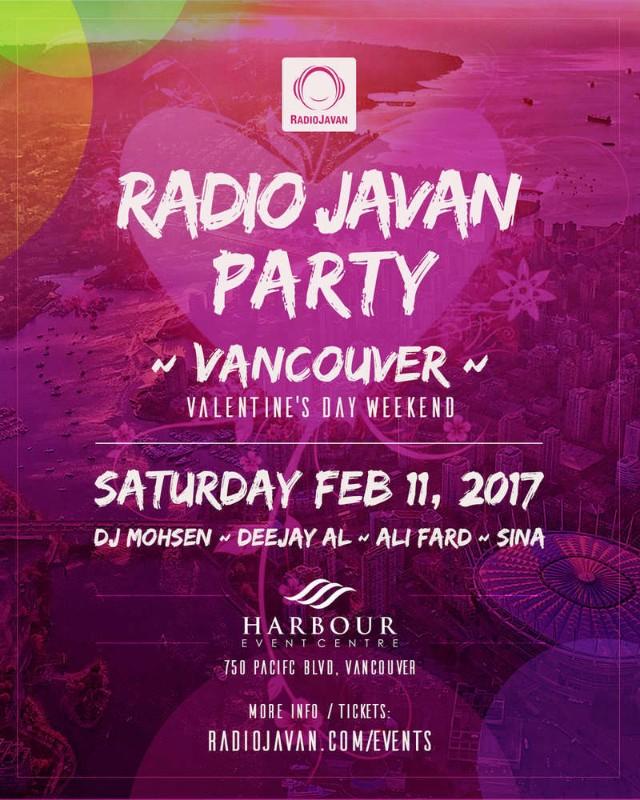 Radio Javan Party Vancouver Valentine S Day Weekend Iran Ca